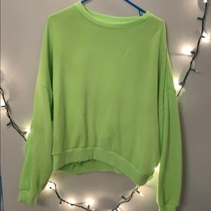 long sleeve american eagle bright green t
